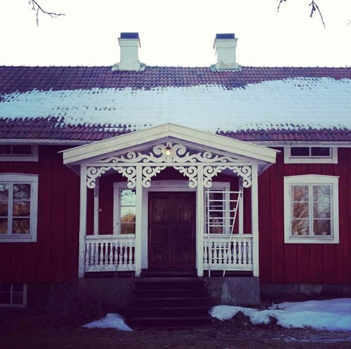 Old dreamy wooden house in the forests of Småland