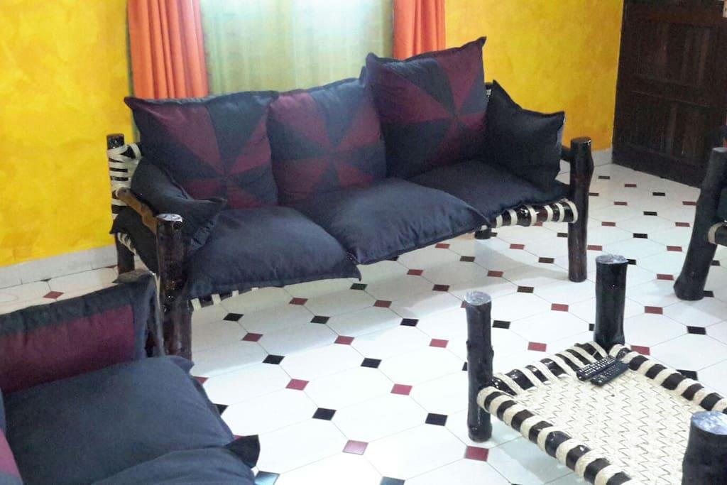 Lamu style seats locally made using mangrove trees