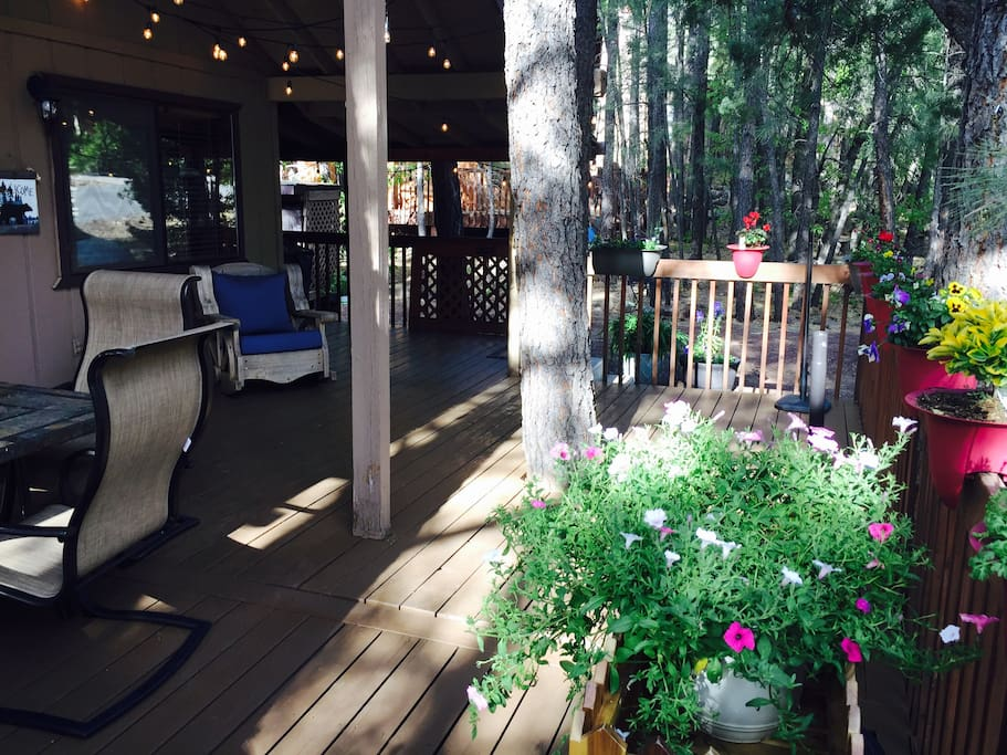 Beautiful and comfortable deck to sit and enjoy the beautiful weather!