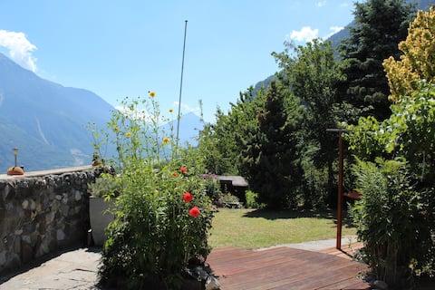 Cozy Valais chalet overlooking the Rhône valley