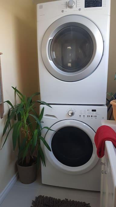 Washer dryer on main floor