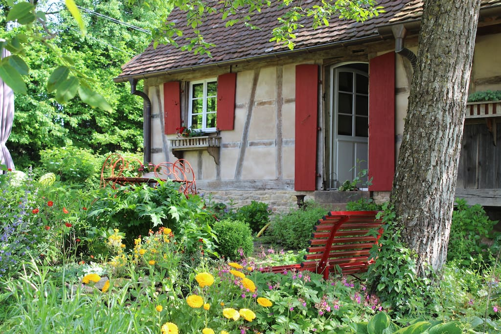 Rouge Eglantine et son jardin/terrasse privatif verdoyant