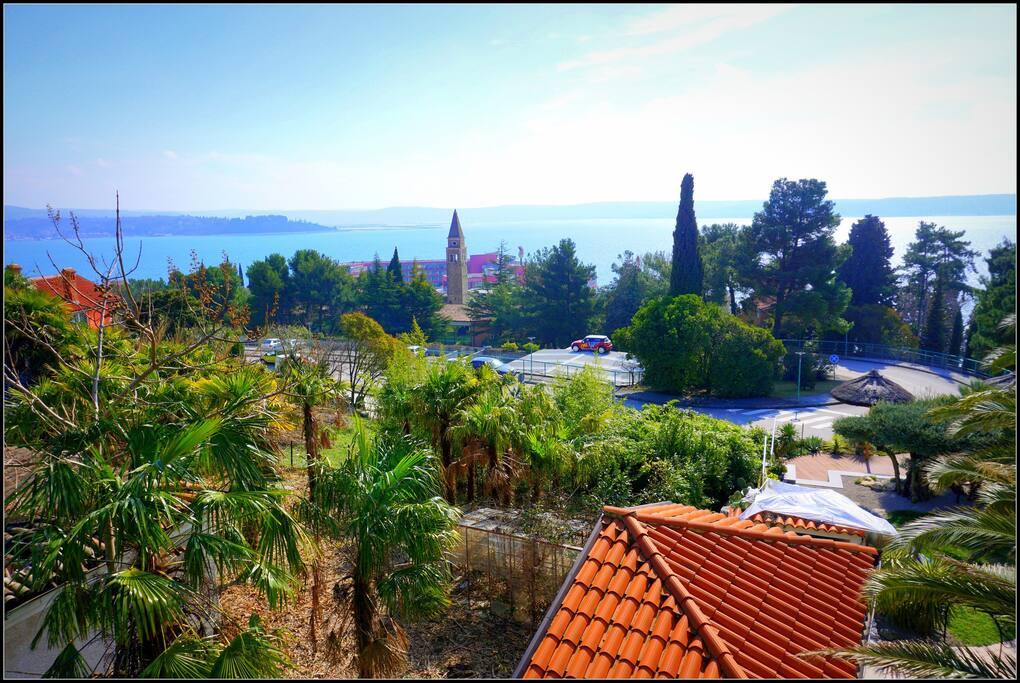 Stunning view over Portorož bay