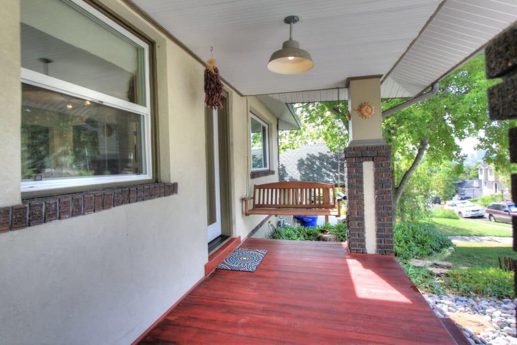 Front porch- city views