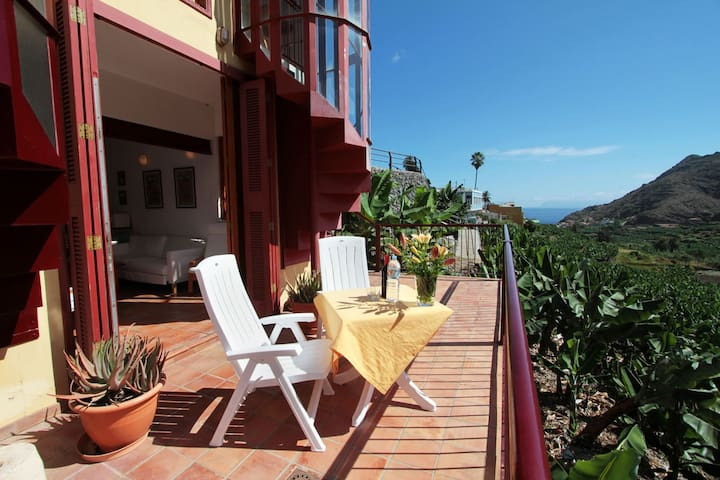 Caracol - Ferienwohnung mit traumhaftem Ausblick - Hermigua - Apartemen