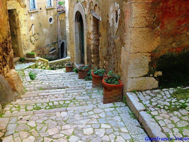 Historic Home, Shops,Cafes,Train To Rome or Amalfi - Guardia Sanframondi - Dom