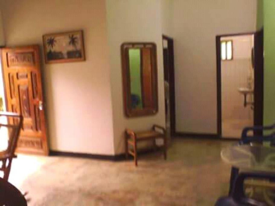 Vista interna de la casa