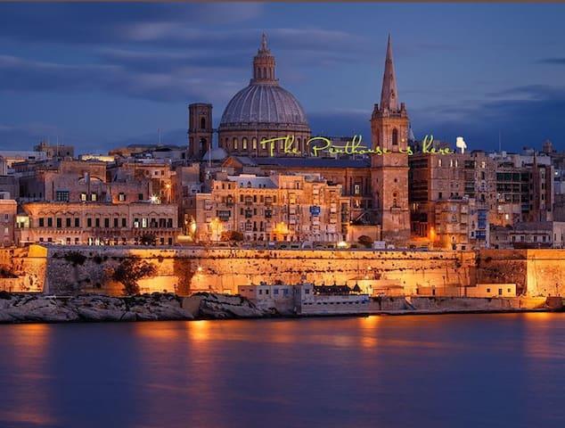 Valletta Postcard Penthouse - Valletta - Appartement