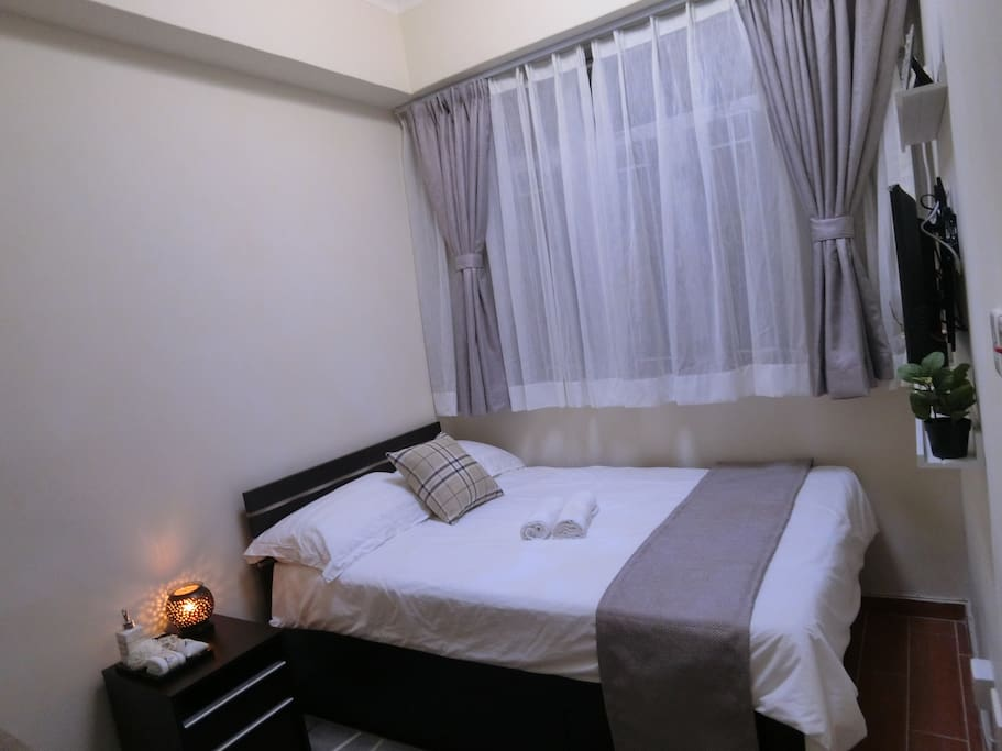 with a 4.5 feet double bed,enjoy and relax !