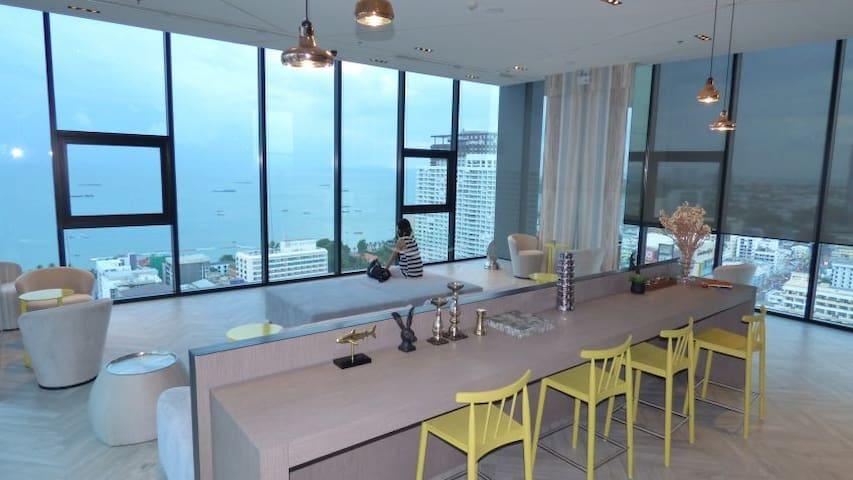 5 min to pattaya beach seaView cond - Muang Pattaya - Condominium