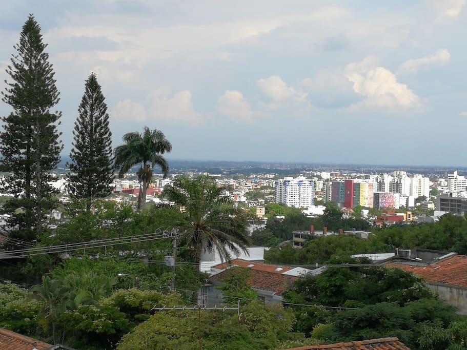 La mejor vista de la ciudad desde su habitación.