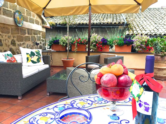 Lovely house with a roof terrace - Orvieto - House
