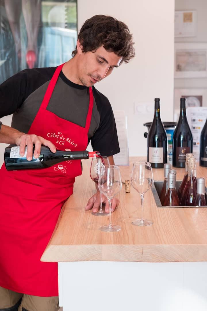 wine tasting red