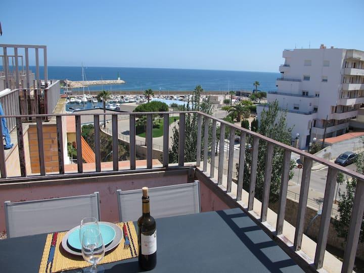 Appartement cosy avec vue sur le port