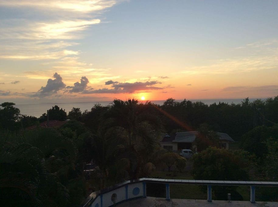 Sunset from the terrace