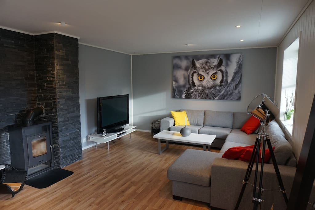 Nice fireplace that can be used for cold nights