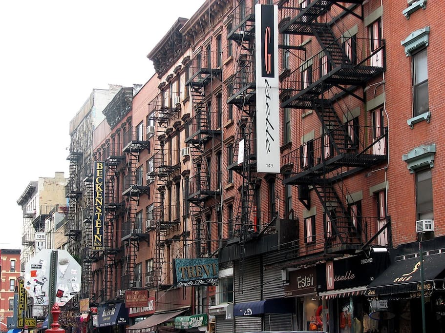 The Lower East Side! Bustling hub of downtown NYC where our apartment is located