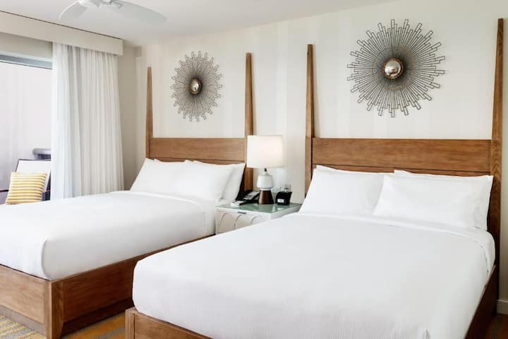 Awesome Double Two Double Beds At Miami Beach