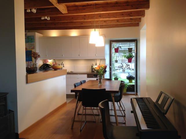Maison 3 chambres et jardin fleuri - Ville-en-Sallaz - Dom