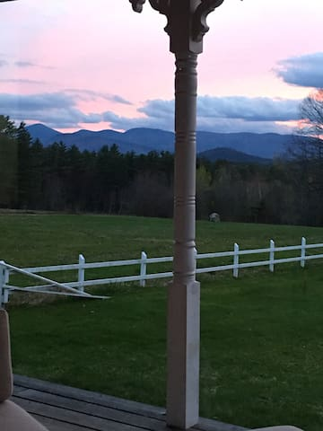 Sunset over the White Mountains from the back porch.