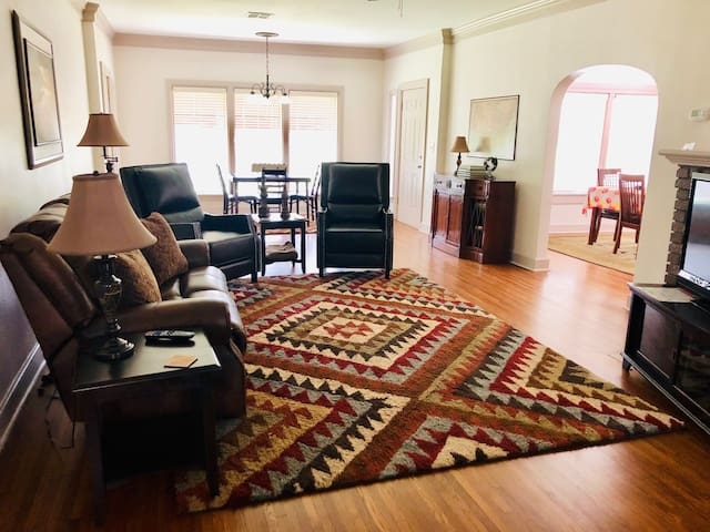 Spacious living area for families or larger groups.