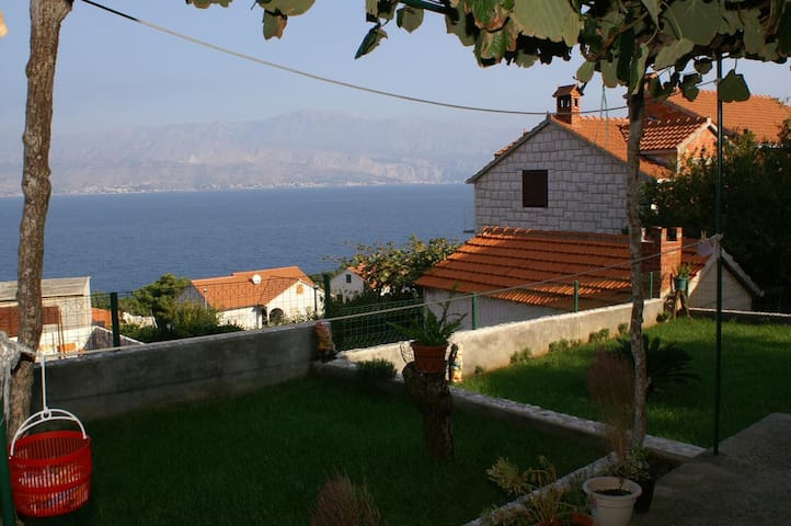 Two bedroom apartment with terrace and sea view Postira (Brač) (A-2911-b)