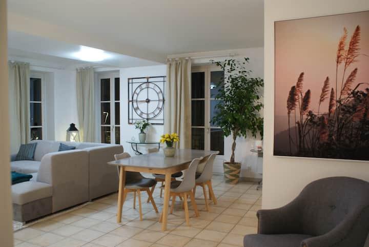 Grand appartement avec vue sur la Saône