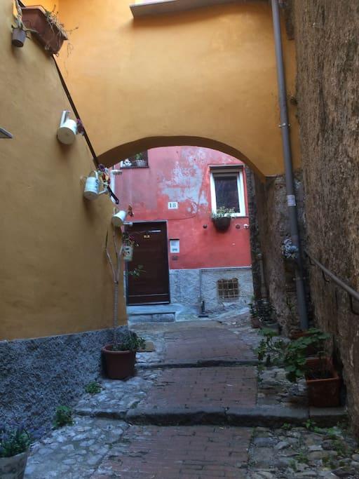 l'arrivo in Salita di Monterosso
