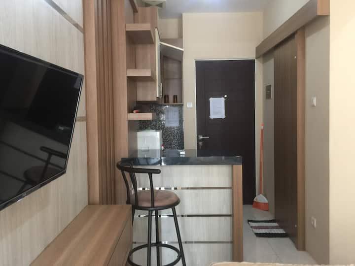 Unit studio fasilitas lengkap lantai dasar