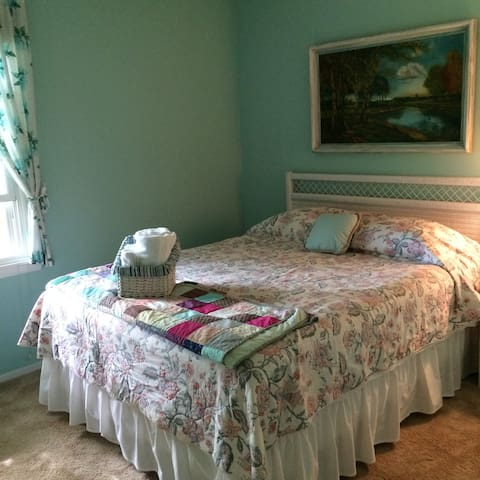 Check out the new photo of the bedroom below.