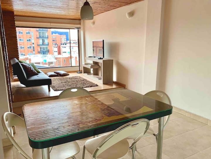 Acogedor apartamento 2/2 Cerca Clínica El Bosque.
