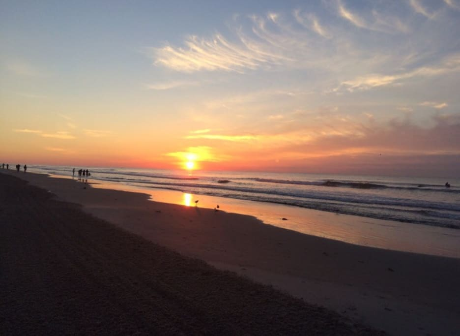 Sunset on nearby Wildwood Crest Beach
