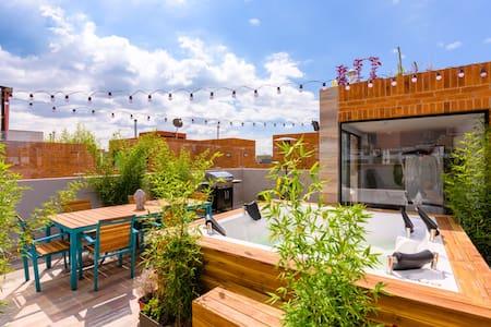 私人浴缸+露台+烧烤 - 在Usaquen 1张床 - Bogotá - Wohnung