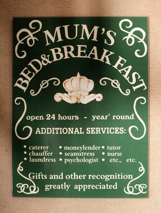 Mum's Bed & Breakfast