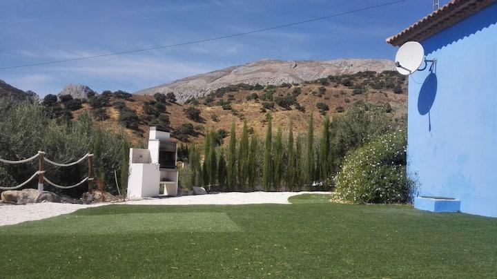 the blue house near caminito del Rey