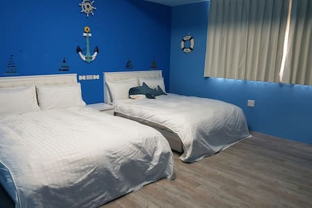 O9O56O32O3蔚藍主題套房,雙人入住方案,2人即可入住,可容納2-6人,此為雙人入住價格
