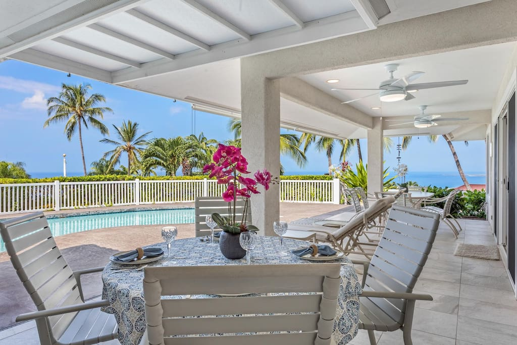 Ocean Views from Covered Lanai and Private Pool