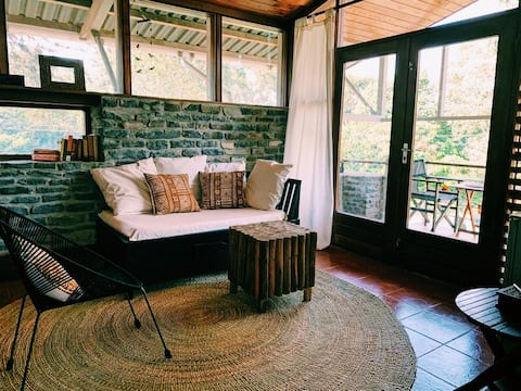 Private, modern studio overlooking coffee farm