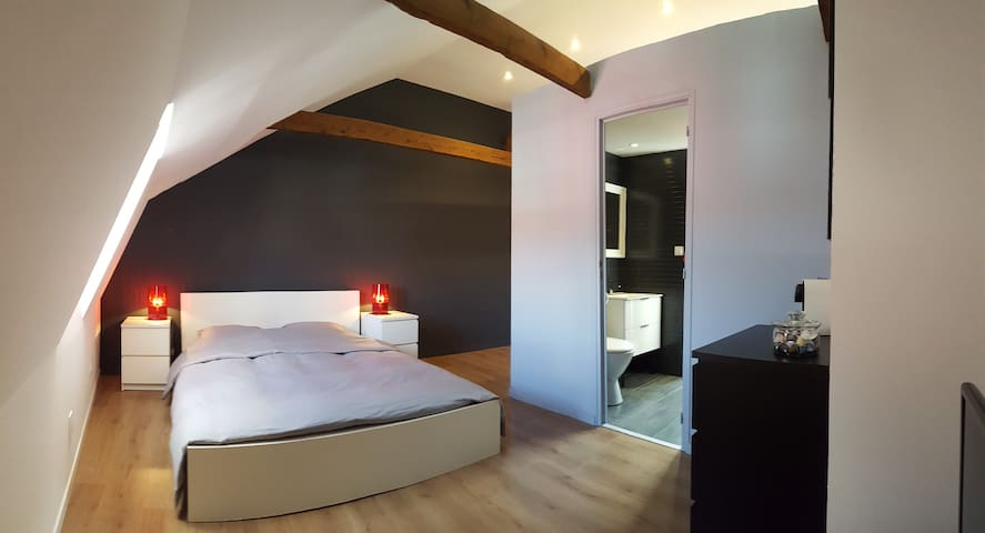 Private luxurious master suite, near Lille - Hallennes-lez-Haubourdin - House