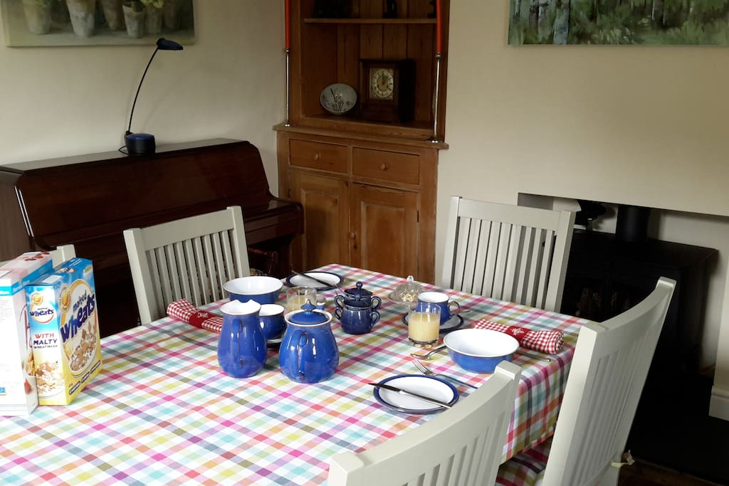 Breakfast in the dining room