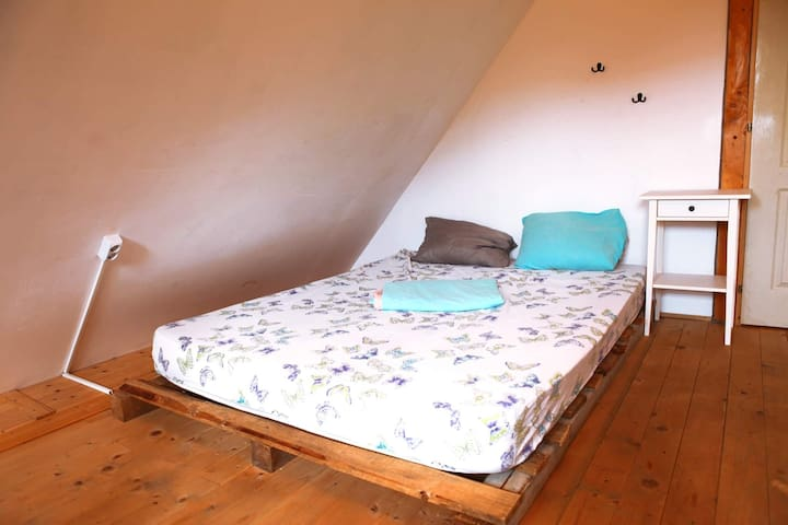 Upstairs double bed