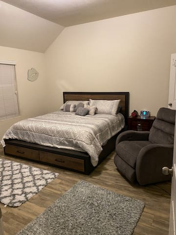 Master bedroom Located on first floor
