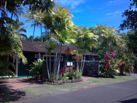 Hawaiian-art themed Cottage 300 ft from the Ocean