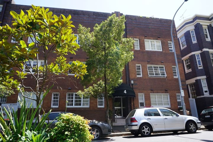 Art deco compact studio apartment in Potts Point - Potts Point - Wohnung