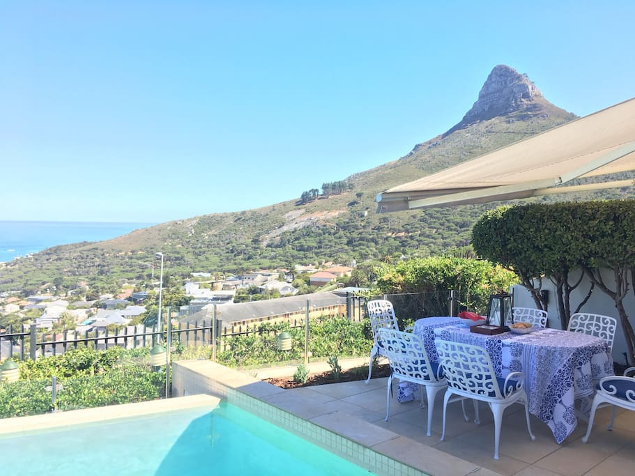 Infinity pool with panoramic views of Lions Head