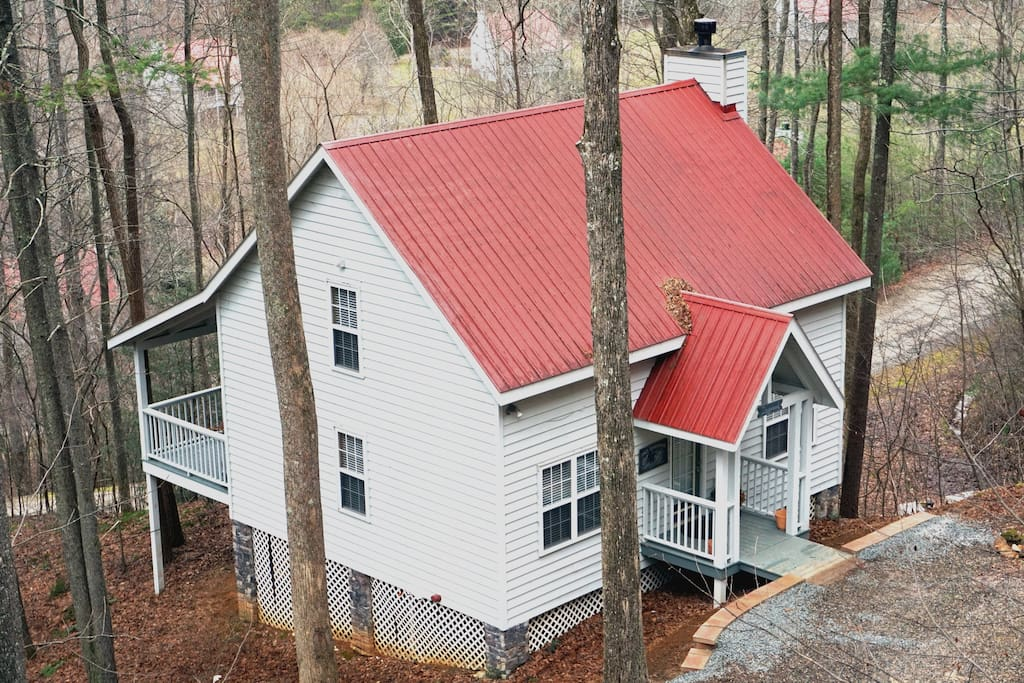 Georgia mountain cabin w fireplace cottages for rent in for Mobili cabina blairsville ga