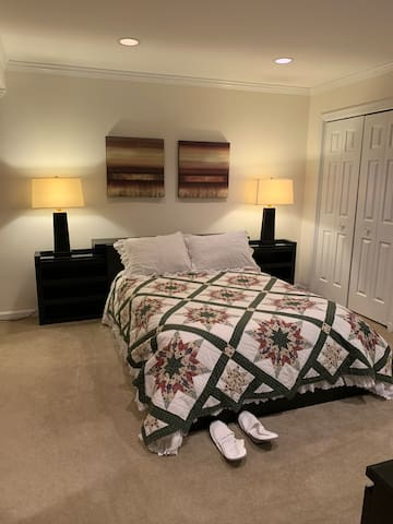 Master bedroom, with 2 full seize closets and dresser