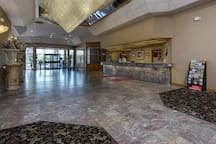 Stylish lobby with 24/7 front desk available