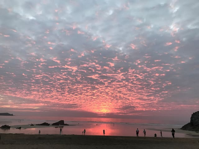 Beautiful sunsets at nearby beaches