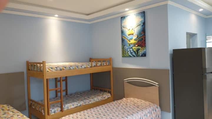 Ambiente familiar confortável em Ubatuba
